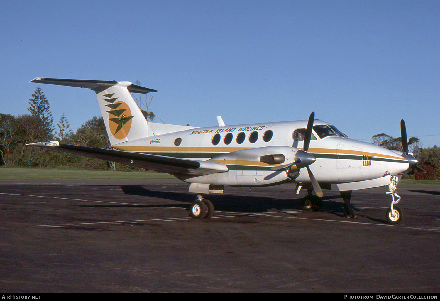Aircraft Photo of VH-IBC | Beech 200 Super King Air | Norfolk Island Airlines | AirHistory.net #33980