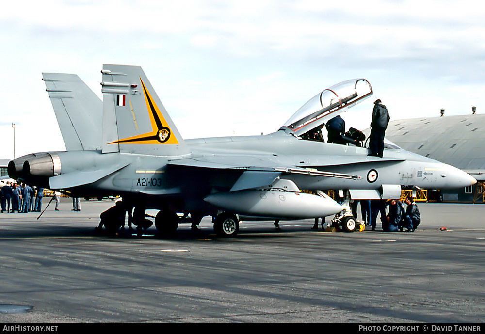 Aircraft Photo of A21-103 | McDonnell Douglas F/A-18B Hornet | Australia - Air Force | AirHistory.net