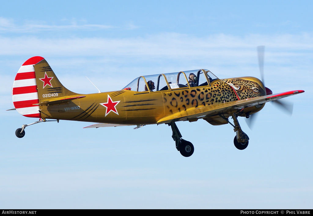 Aircraft Photo of VH-WKO | Yakovlev Yak-52TW | Soviet Union - Air Force | AirHistory.net #40646