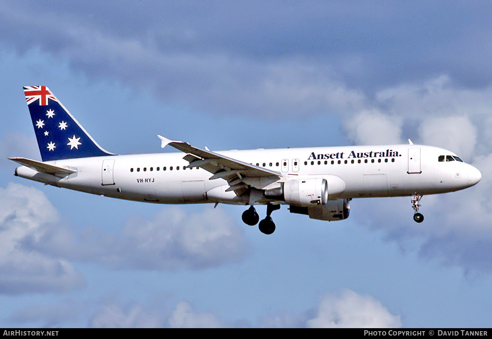 Aircraft Photo of VH-HYJ | Airbus A320-211 | Ansett Australia | AirHistory.net