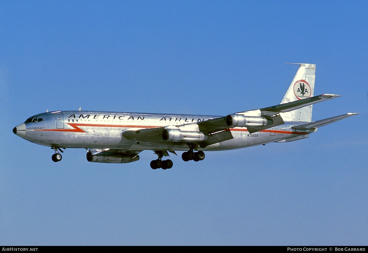 Aircraft Photo of N7552A | Boeing 707-123B | American Airlines | AirHistory.net