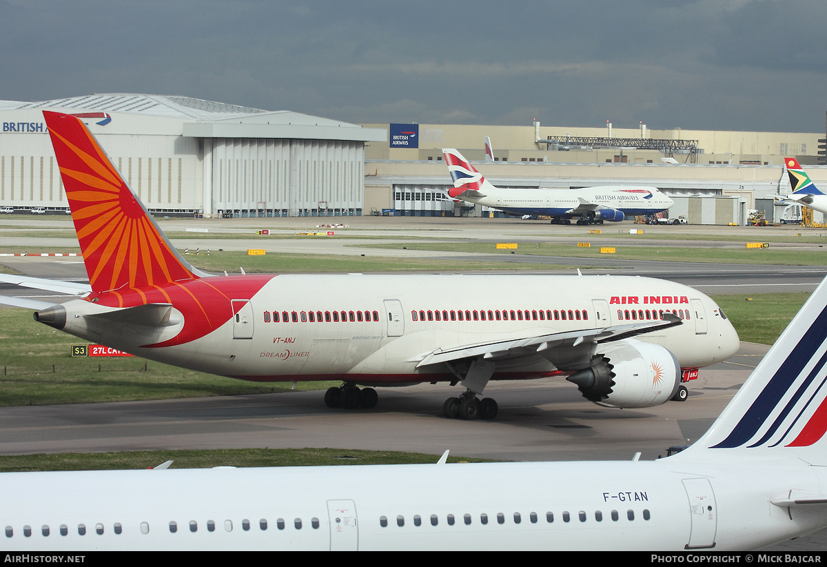 Aircraft Photo of VT-ANJ | Boeing 787-8 Dreamliner | Air India | AirHistory.net