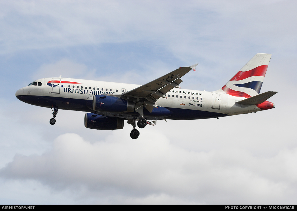 Aircraft Photo of G-EUPE | Airbus A319-131 | British Airways | AirHistory.net