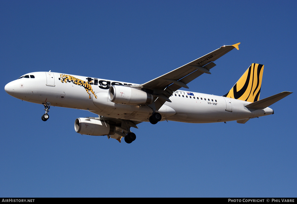 Aircraft Photo of VH-VNF | Airbus A320-232 | Tiger Airways | AirHistory.net