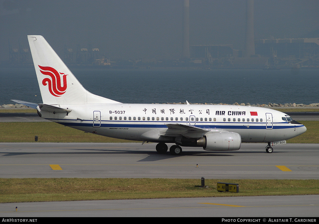 Aircraft Photo of B-5037 | Boeing 737-66N | Air China | AirHistory.net