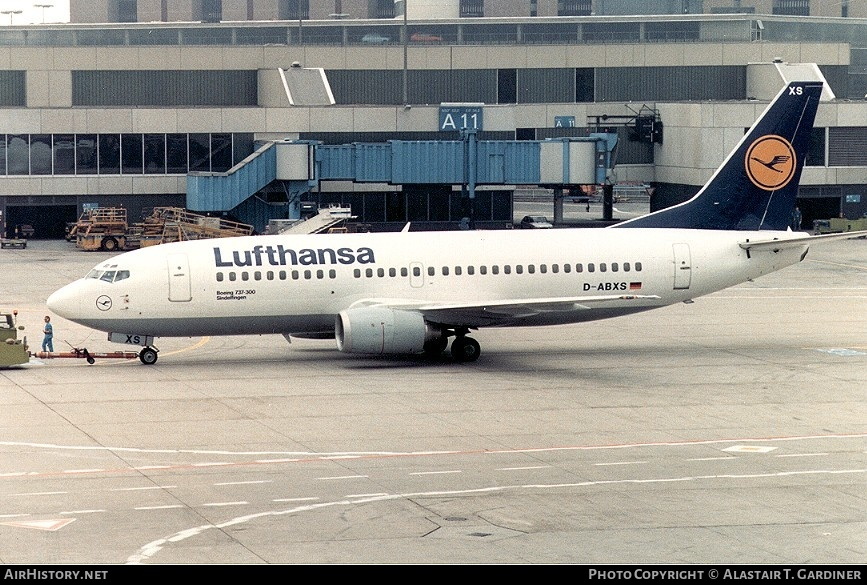 Aircraft Photo of D-ABXS | Boeing 737-330 | Lufthansa | AirHistory.net