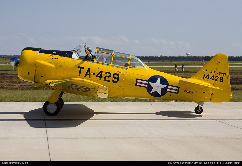 Aircraft Photo of N729AM / 14429 | North American T-6G Texan | USA - Air Force | AirHistory.net #41353