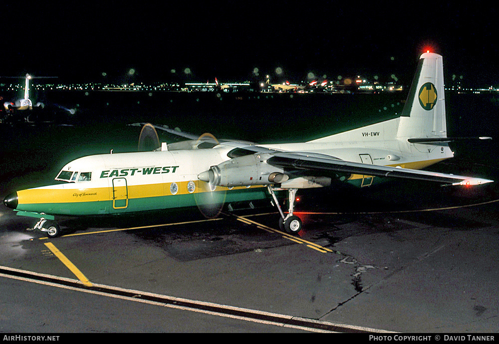 Aircraft Photo of VH-EWV | Fokker F27-500 Friendship | East-West Airlines | AirHistory.net #41368