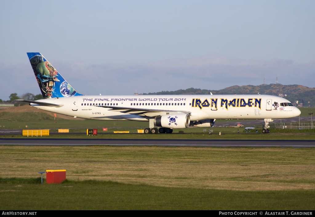 Aircraft Photo of G-STRX | Boeing 757-2Q8 | Iron Maiden | AirHistory.net #41637