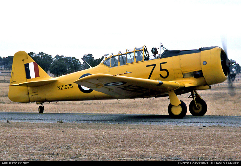 Aircraft Photo of VH-HVD / NZ1075 | North American AT-6C Harvard IIA | New Zealand - Air Force | AirHistory.net #41715
