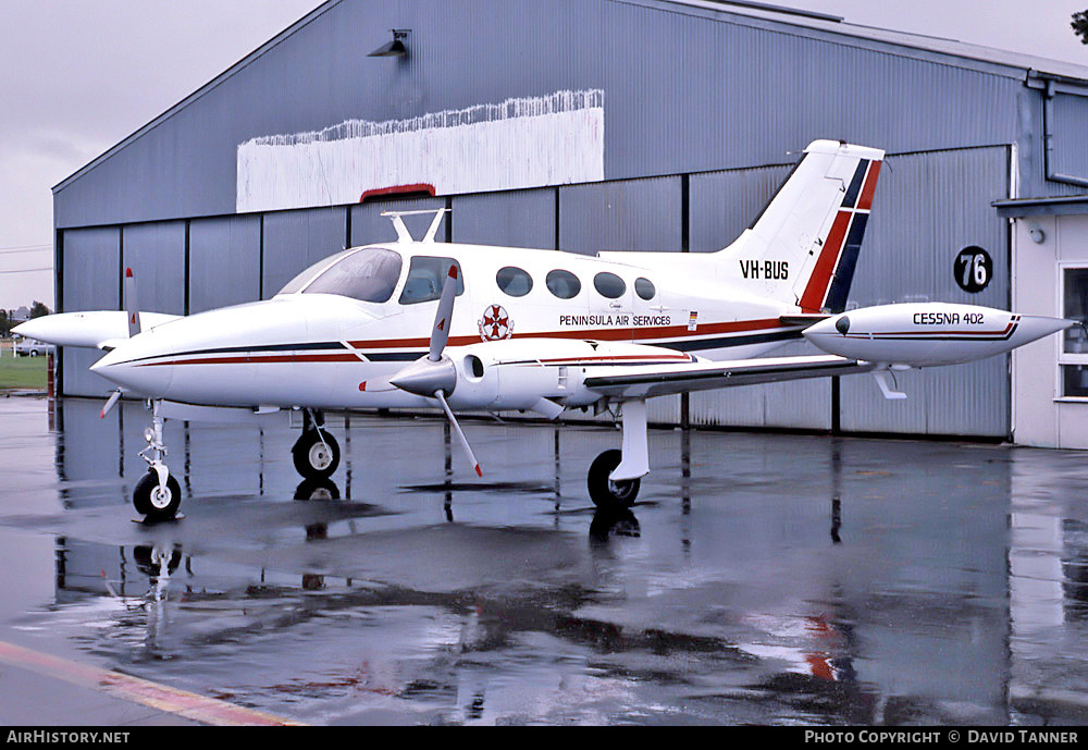 Aircraft Photo of VH-BUS | Cessna 402 | Peninsula Air Services | AirHistory.net #42063