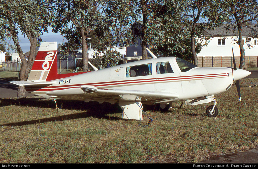 Aircraft Photo of VH-XPT | Mooney M-20J 201 | AirHistory.net