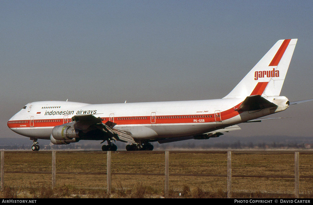 Aircraft Photo of PK-GSB | Boeing 747-2U3B | Garuda - Indonesian Airways | AirHistory.net
