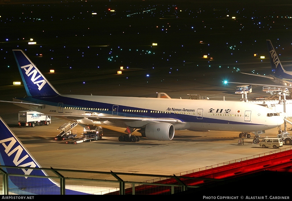 Aircraft Photo of JA8198 | Boeing 777-281 | All Nippon Airways - ANA | AirHistory.net
