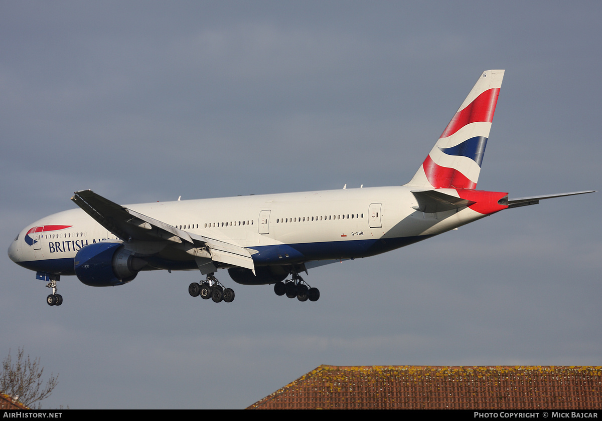 Aircraft Photo of G-VIIB | Boeing 777-236/ER | British Airways | AirHistory.net #42431