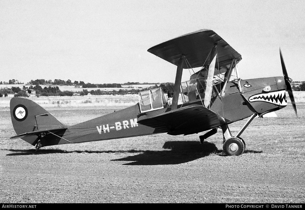 Aircraft Photo of VH-BRM | De Havilland D.H. 82A Tiger Moth | AirHistory.net