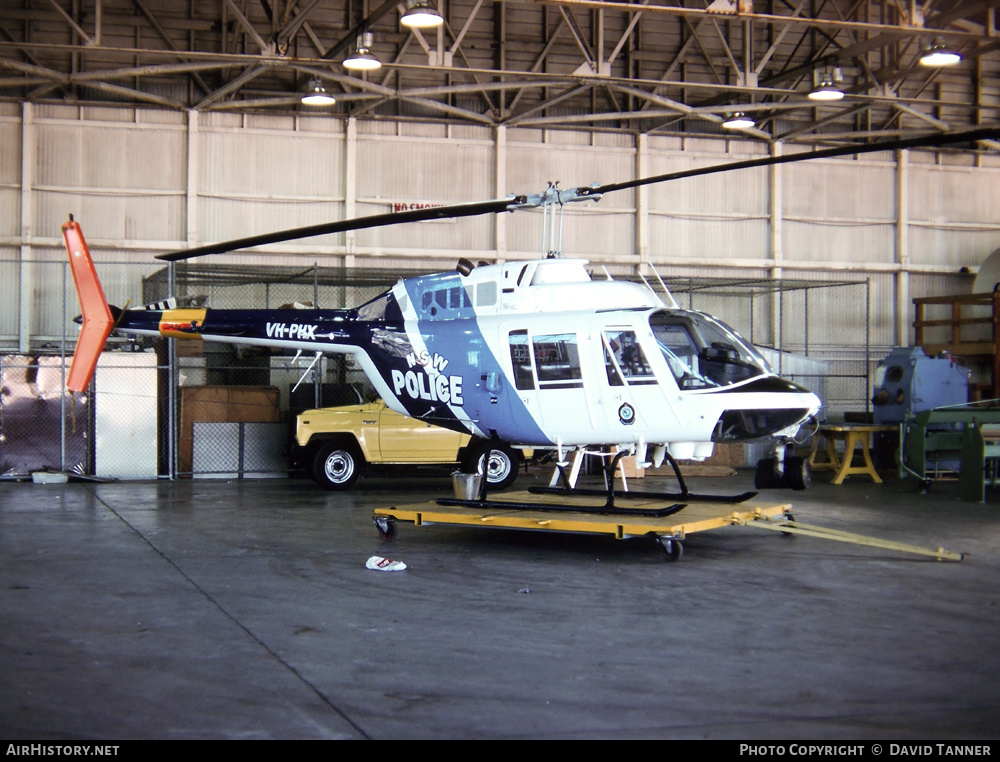 Aircraft Photo of VH-PHX | Bell 206B JetRanger II | NSW Police | AirHistory.net
