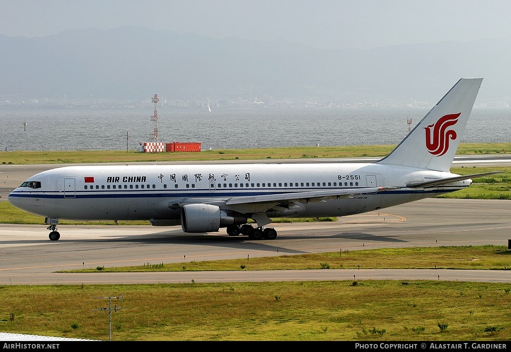 Aircraft Photo of B-2551 | Boeing 767-2J6/ER | Air China | AirHistory.net #43064