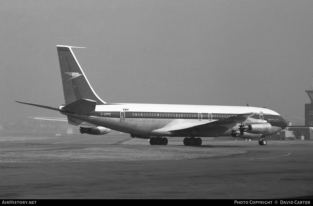 Aircraft Photo of G-APFO | Boeing 707-436 | BOAC | AirHistory.net #43144