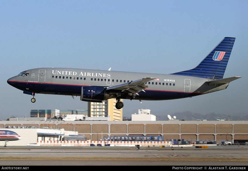 Aircraft Photo of N364UA | Boeing 737-322 | United Airlines | AirHistory.net #43437