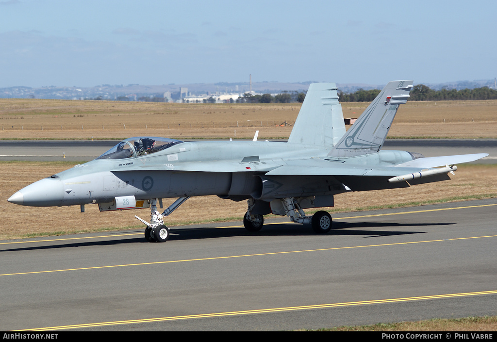 Aircraft Photo of A21-28 | McDonnell Douglas F/A-18A Hornet | Australia - Air Force | AirHistory.net #43699