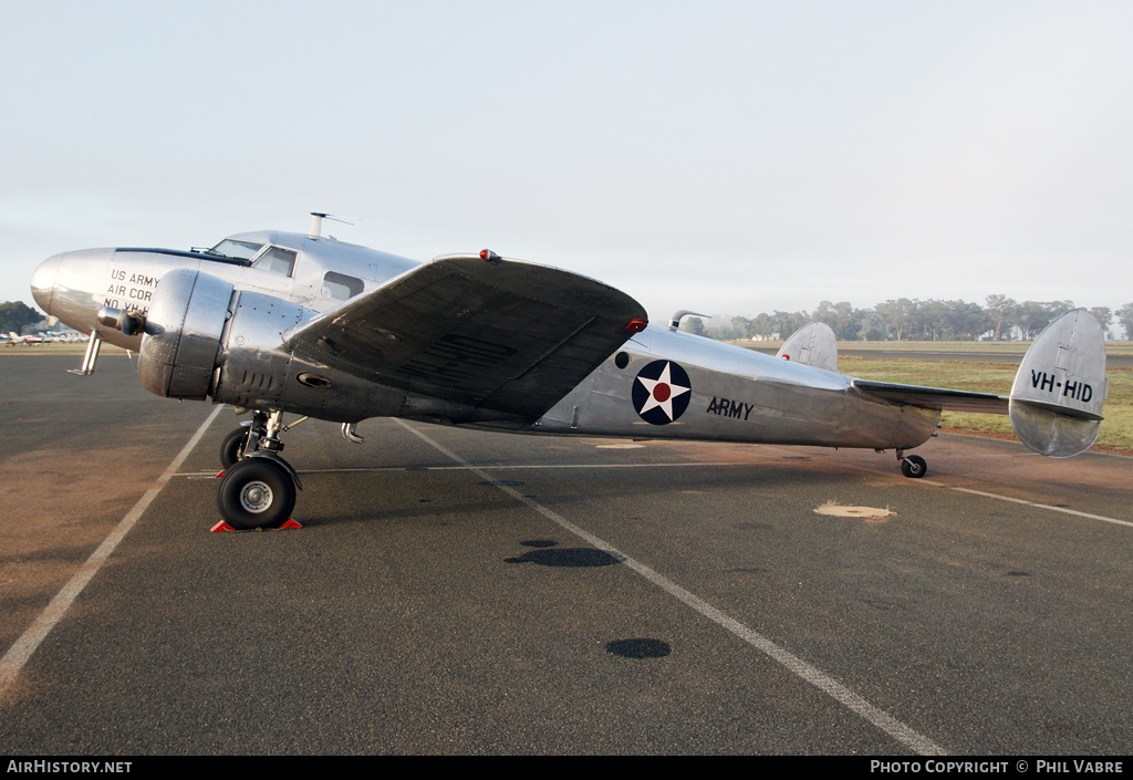 Aircraft Photo of VH-HID | Lockheed 12-A Electra Junior | USA - Air Force | AirHistory.net
