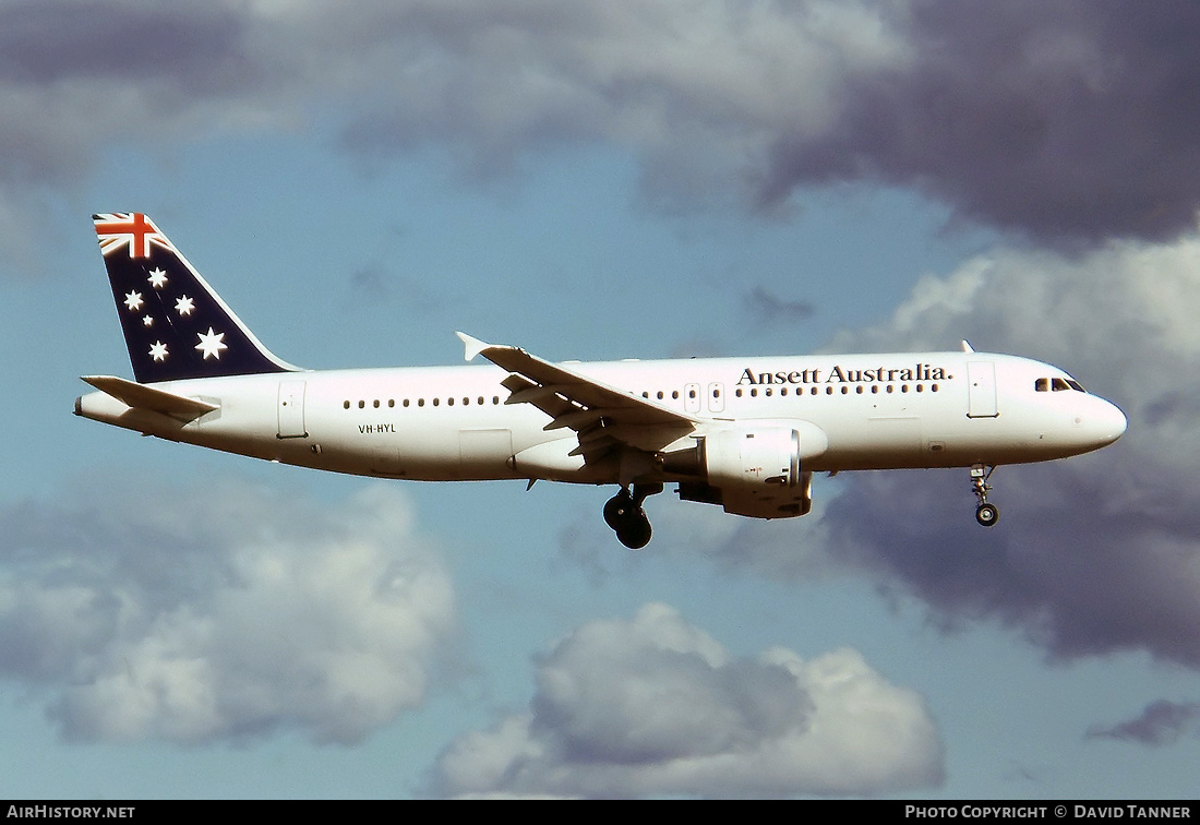 Aircraft Photo of VH-HYL | Airbus A320-211 | Ansett Australia | AirHistory.net #45048