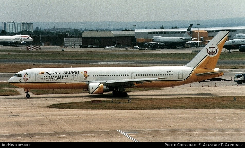 Aircraft Photo of V8-RBJ | Boeing 767-33A/ER | Royal Brunei Airlines | AirHistory.net #46229