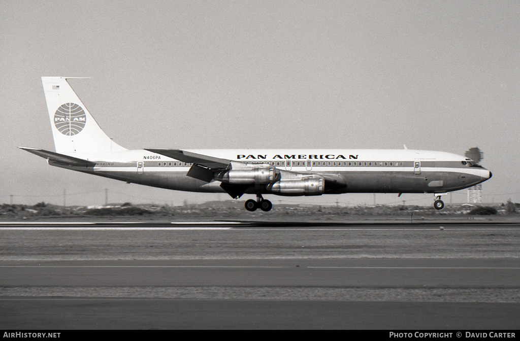 Aircraft Photo of N406PA | Boeing 707-321B | Pan American World Airways - Pan Am | AirHistory.net #46763