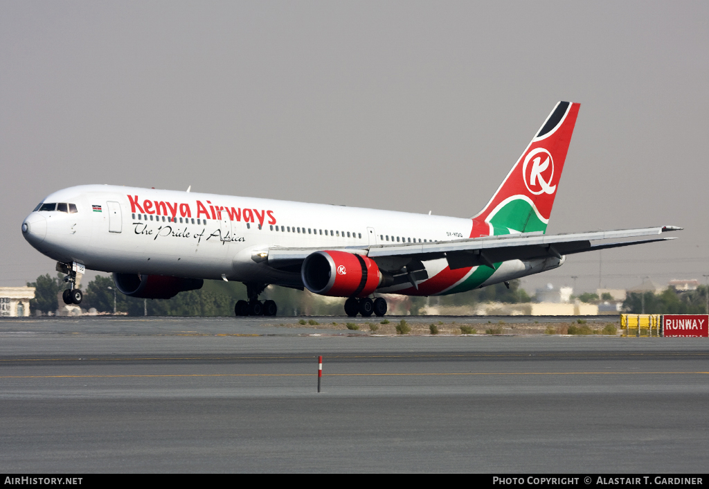 Aircraft Photo of 5Y-KQQ | Boeing 767-33A/ER | Kenya Airways | AirHistory.net #47045