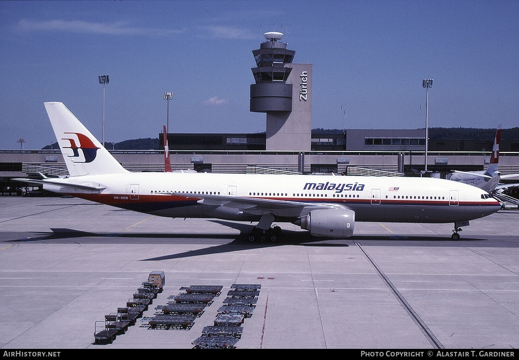 Aircraft Photo of 9M-MRD | Boeing 777-2H6/ER | Malaysia Airlines | AirHistory.net #47284