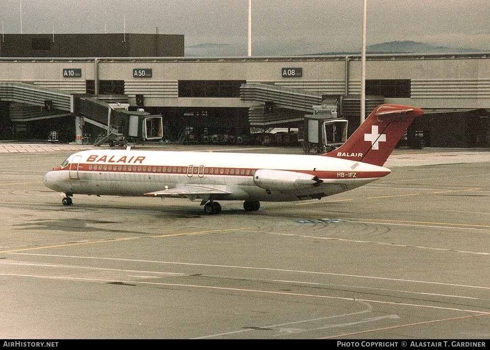 Aircraft Photo of HB-IFZ | McDonnell Douglas DC-9-32 | Balair | AirHistory.net #47408
