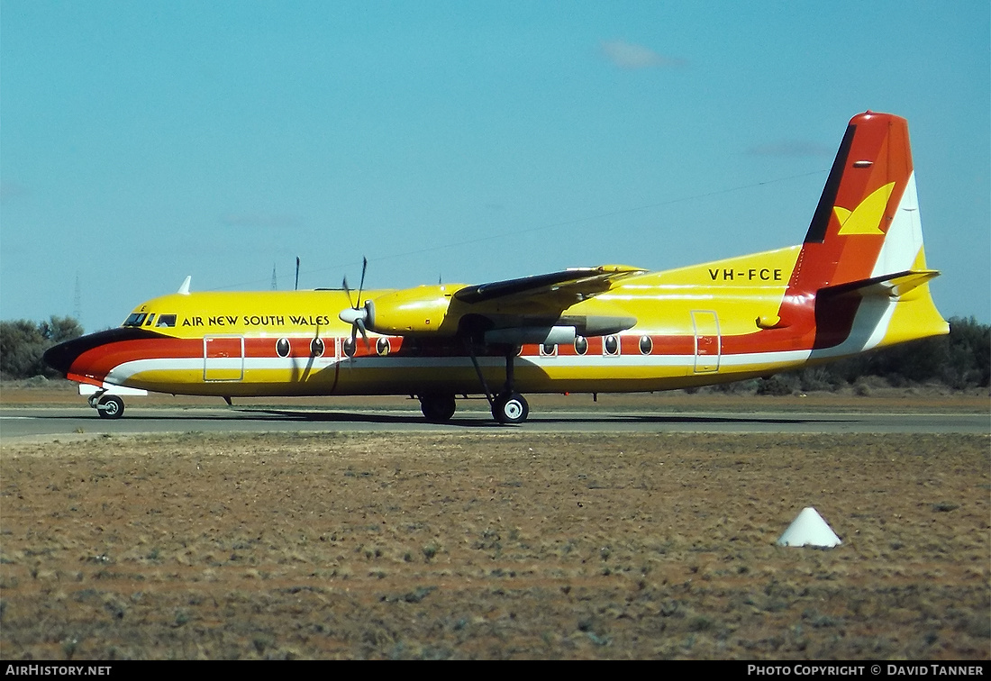 Aircraft Photo of VH-FCE | Fokker F27-500F Friendship | Air New South Wales | AirHistory.net #47904