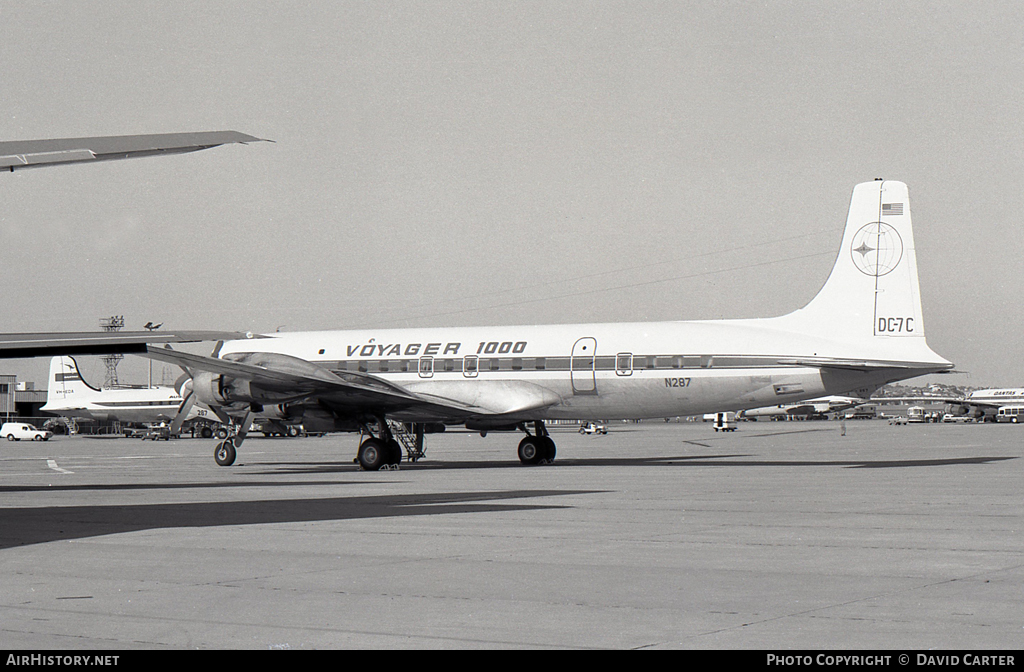 Aircraft Photo of N287 | Douglas DC-7C Seven Seas | Voyager 1000 | AirHistory.net #48378