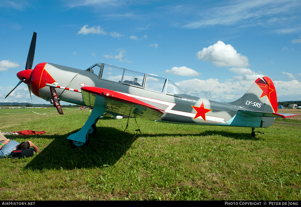 Aircraft Photo of LY-SRS | Yakovlev Yak-52TD | Soviet Union - Air Force | AirHistory.net #49424