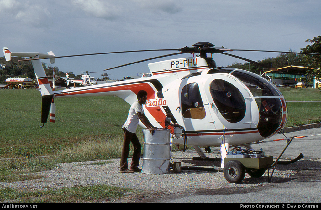 Aircraft Photo of P2-PHU | Hughes 500D (369D) | Pacific Helicopters | AirHistory.net