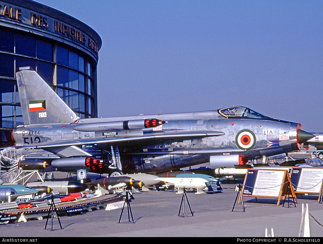 Aircraft Photo of G-AXEE / 418 | English Electric Lightning F53 | Kuwait - Air Force | AirHistory.net #50300