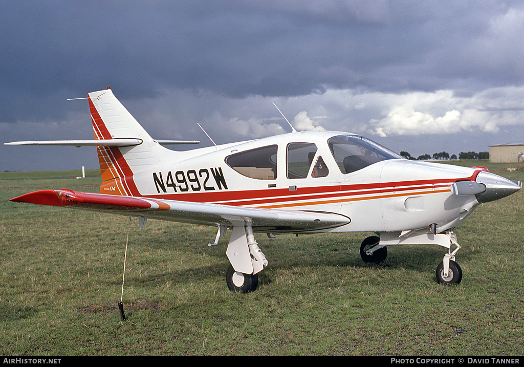 Aircraft Photo of N4992W | Rockwell Commander 114 | AirHistory.net