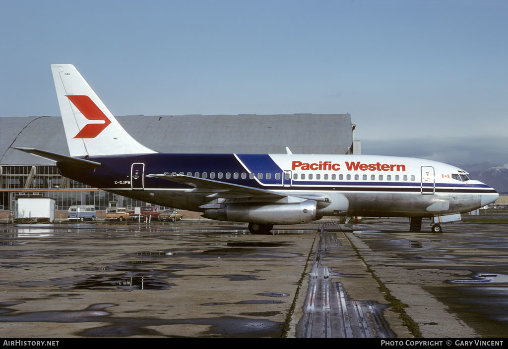 Aircraft Photo of C-GJPW | Boeing 737-275/Adv | Pacific Western Airlines | AirHistory.net #50625