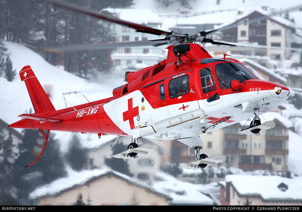 Aircraft Photo of HB-XWG | Agusta A-109K-2 | REGA - Swiss Air Ambulance | AirHistory.net #51099