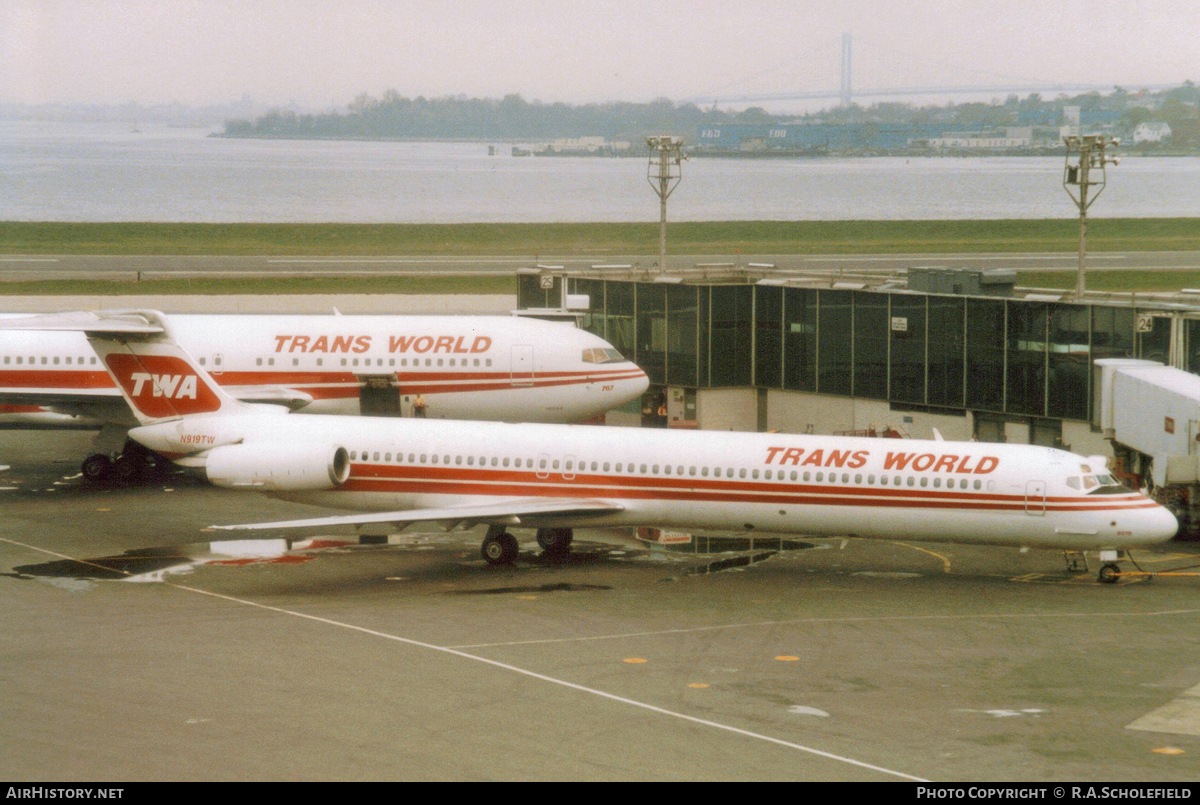 Aircraft Photo of N919TW | McDonnell Douglas MD-82 (DC-9-82) | Trans World Airlines - TWA | AirHistory.net #51840