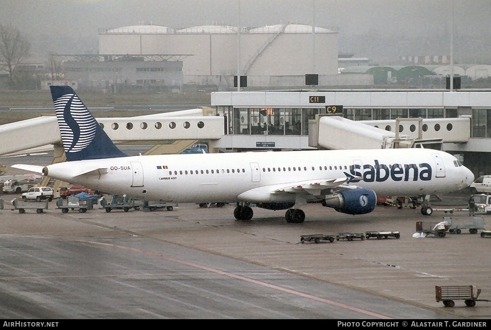 Aircraft Photo of OO-SUA | Airbus A321-211 | Sabena | AirHistory.net #51903