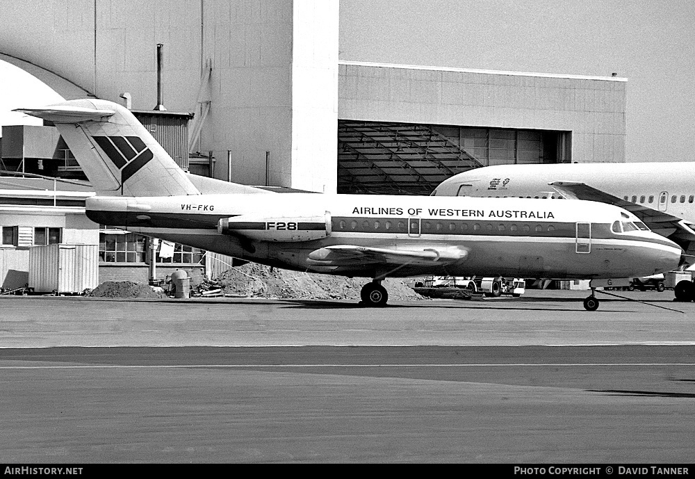 Aircraft Photo of VH-FKG | Fokker F28-1000 Fellowship | Airlines of Western Australia | AirHistory.net #52655