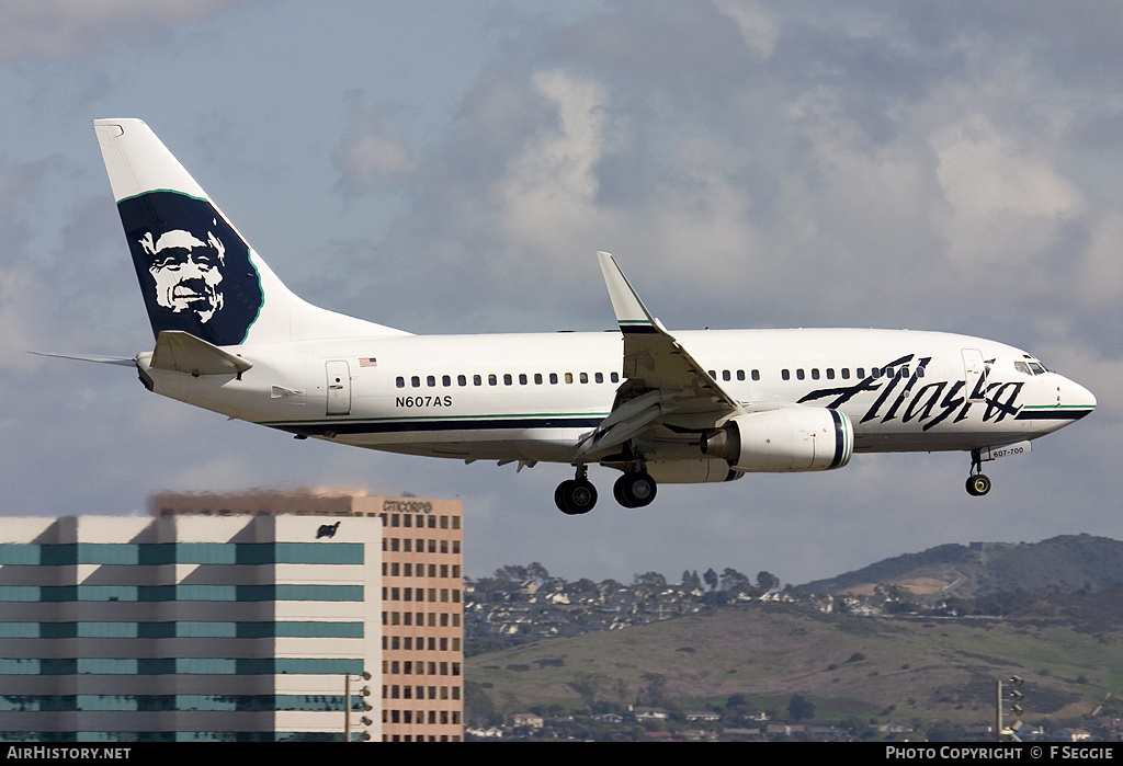Aircraft Photo of N607AS | Boeing 737-790 | Alaska Airlines | AirHistory.net #53167