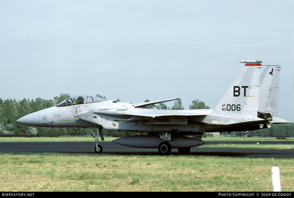 Aircraft Photo of 80-0006 / AF80-006 | McDonnell Douglas F-15C Eagle | USA - Air Force | AirHistory.net #53332