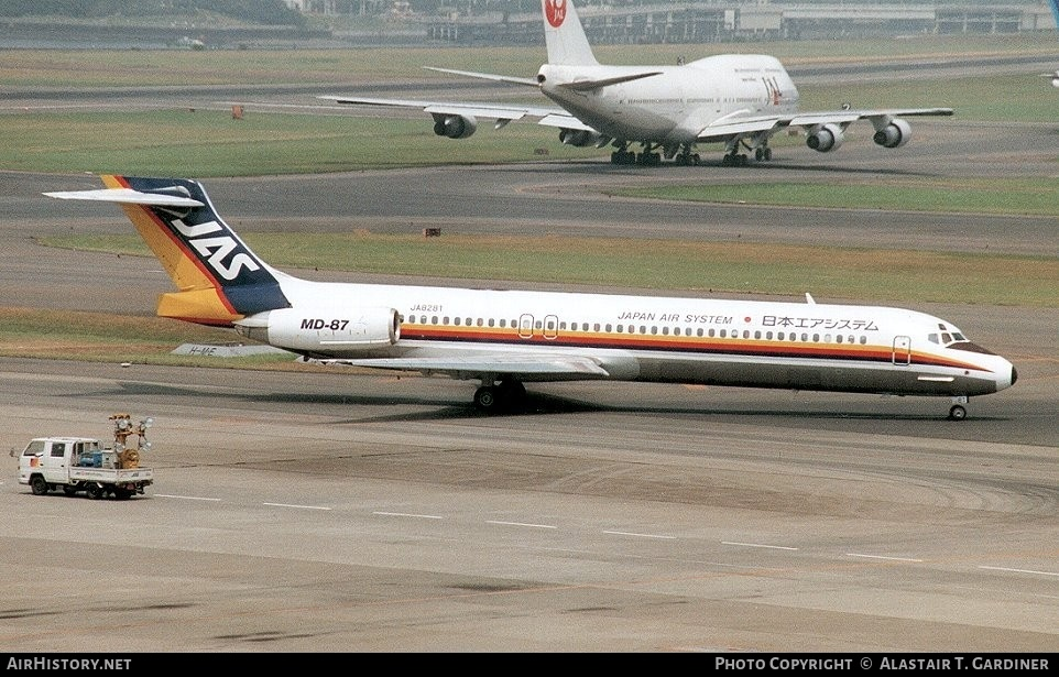 Aircraft Photo of JA8281 | McDonnell Douglas MD-87 (DC-9-87) | Japan Air System - JAS | AirHistory.net #53642
