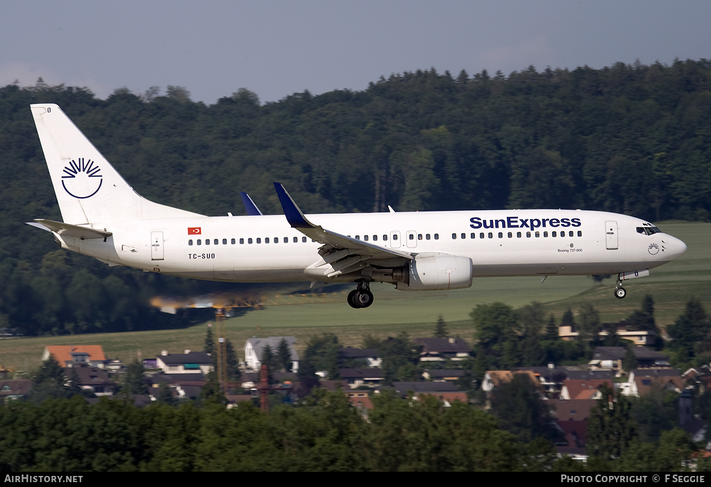 Aircraft Photo of TC-SUD | Boeing 737-86N | SunExpress | AirHistory.net #54708
