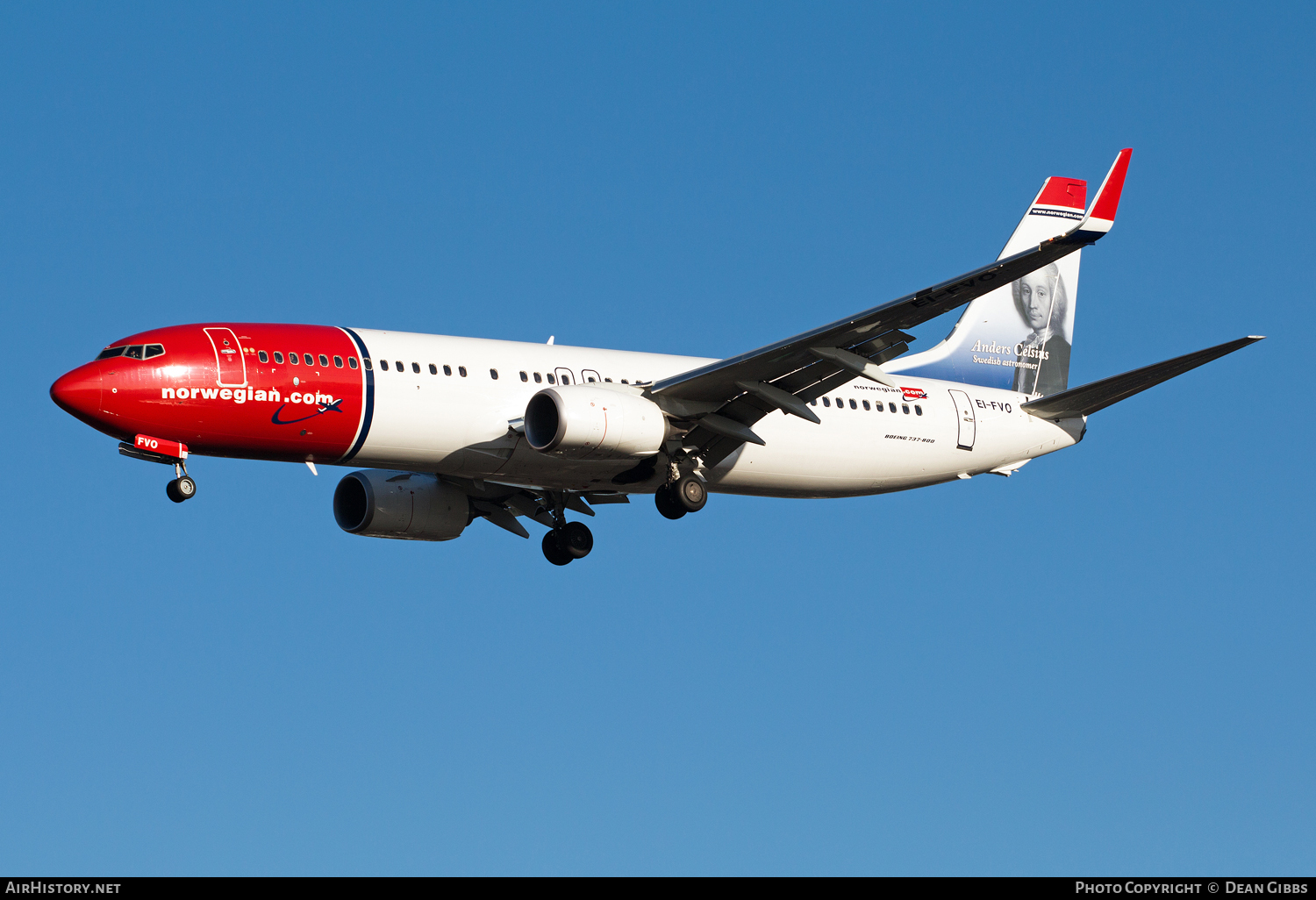 Aircraft Photo of EI-FVO | Boeing 737-8JP | Norwegian Air Shuttle | AirHistory.net #54756