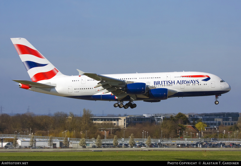 Aircraft Photo of G-XLEF | Airbus A380-841 | British Airways | AirHistory.net #54759