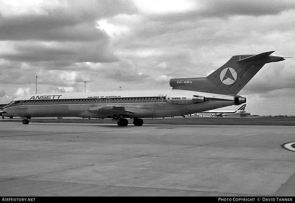 Aircraft Photo of VH-RMU | Boeing 727-277/Adv | Ansett Airlines of Australia | AirHistory.net #54906